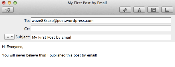 メール投稿