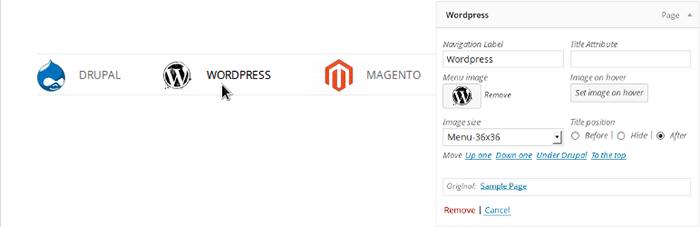 Menu Image - メニューにアイコンを表示できるWordPressプラグイン