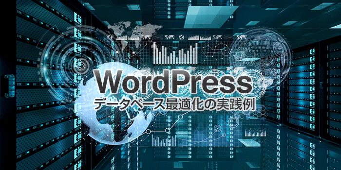 WordPress データベース最適化の実践例
